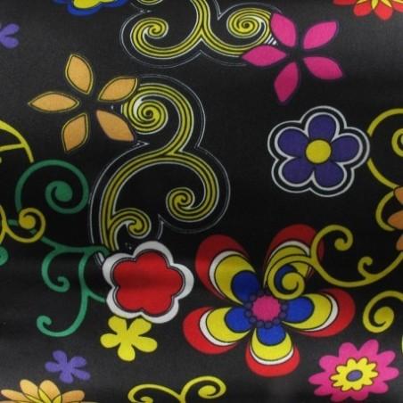 Snood Noir Fleurs en Délires