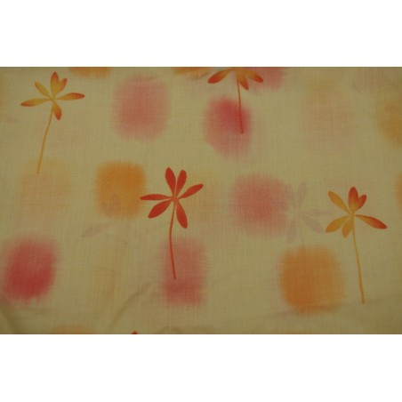 Snood Orange Fleuri