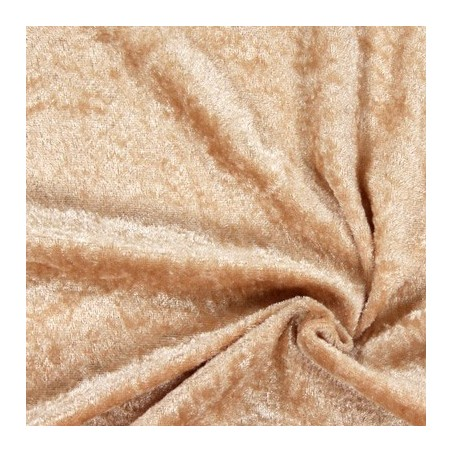 Snood Beige Velours Brillant