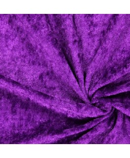 Snood Violet Velours Brillant