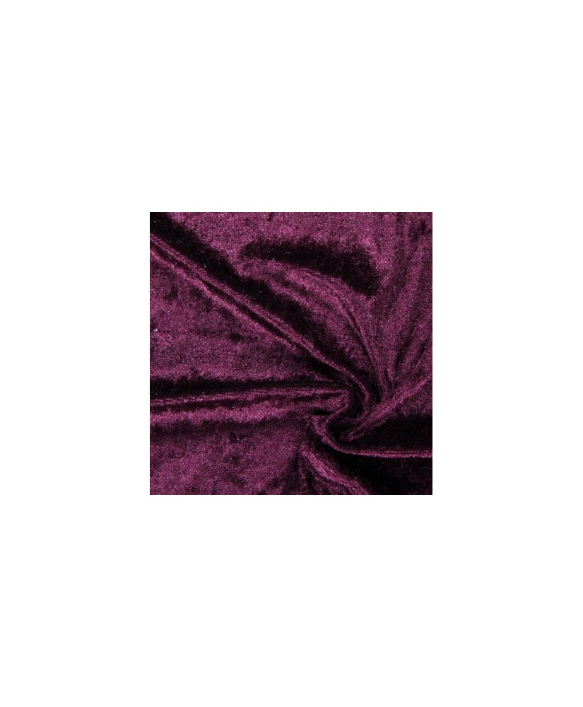Snood Aubergine  Velours Brillant