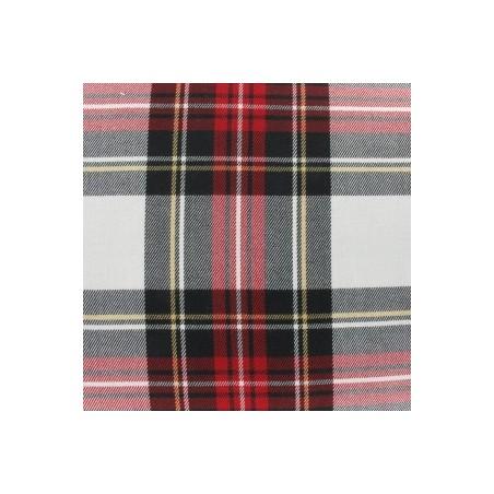 Snood Écossais Rouge et Blanc