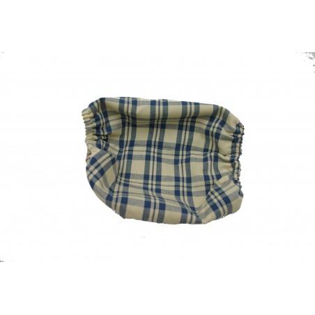 Snood Vintage à Carreaux Bleus taille puppy (snood cavalier king charles)