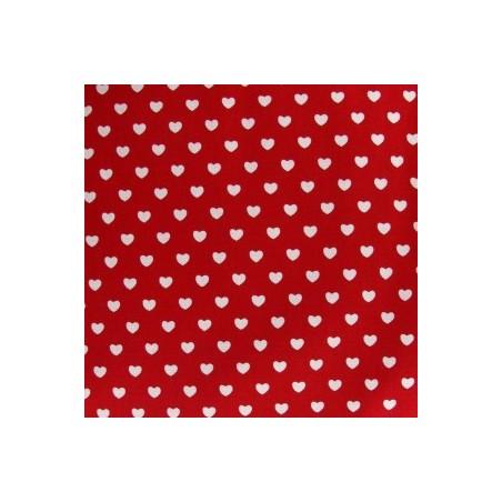 Snood Rouge Petits Coeurs