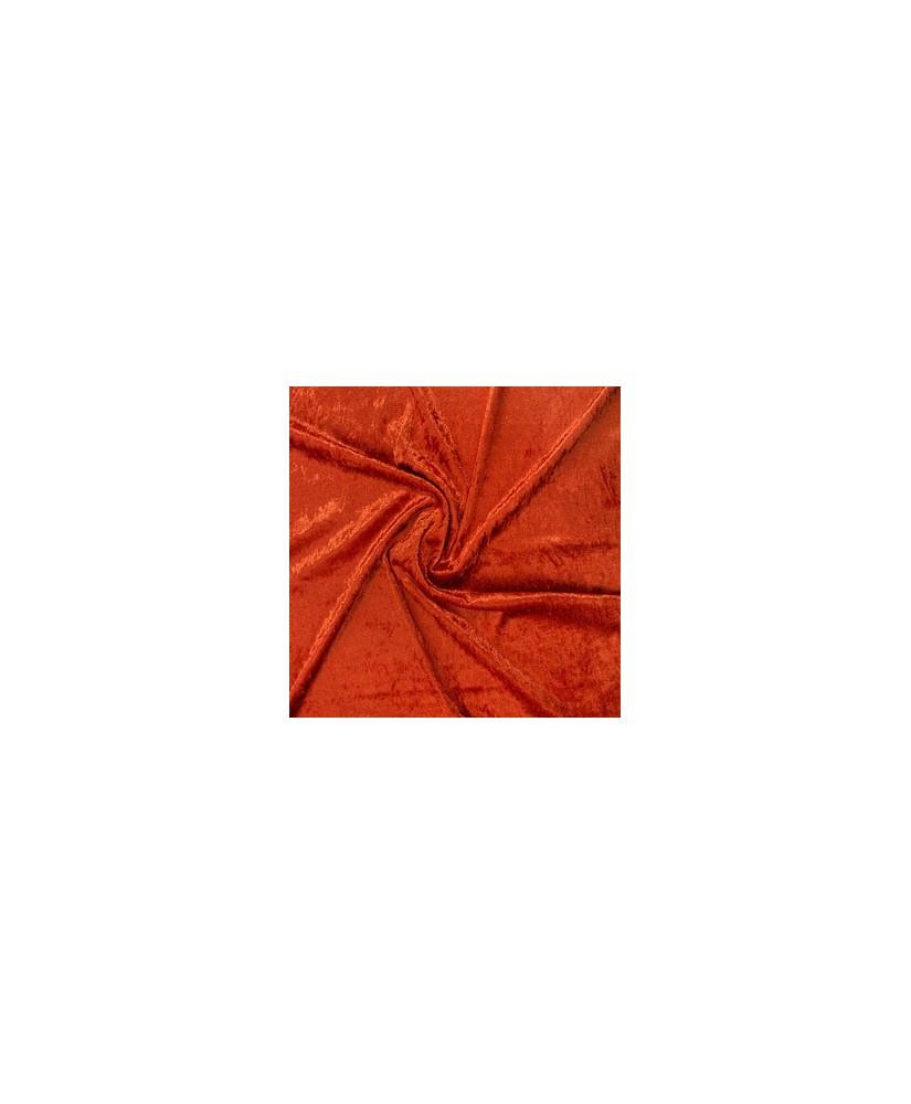 Snood Orange Sanguine Velours Brillant