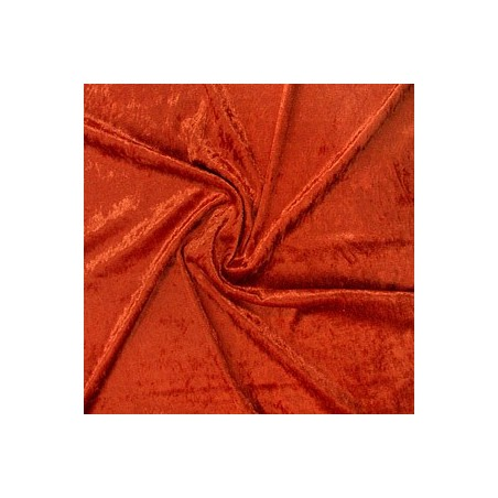 Snood Orange Sanguine Velours Brillant