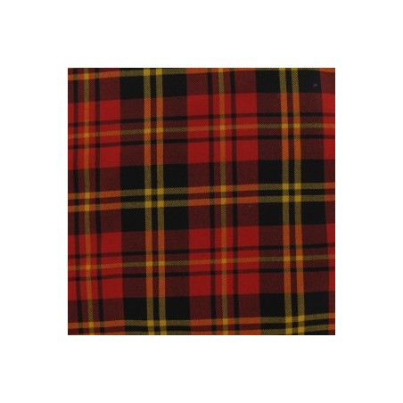 Snood Écossais Rouge et Jaune