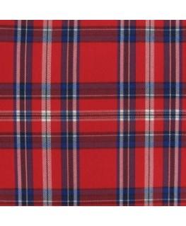 Snood Écossais Rouge et Bleu