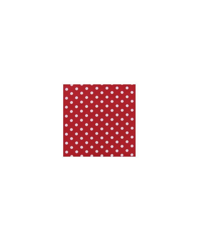 Snood Rouge Petits Pois