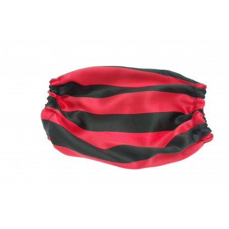 Snood Noir et Rouge taille standard (snood cocker)