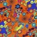 Snood Orange Danse des Fleurs