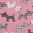 Snood chiens à motifs rose