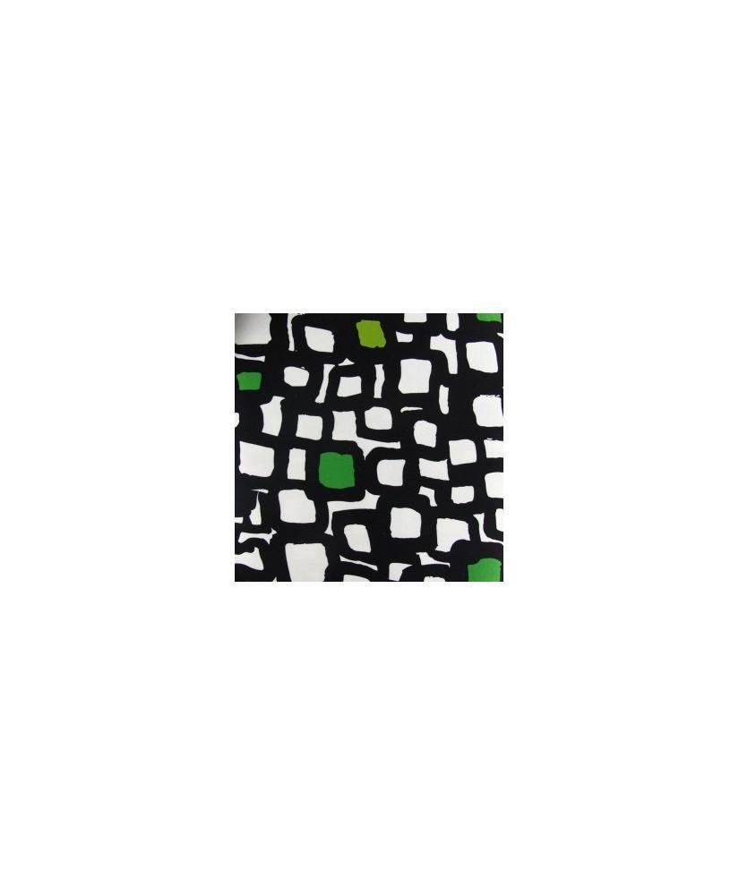 Snood carré vert art