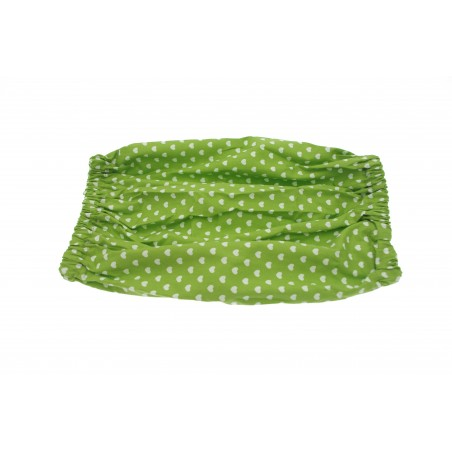 Snood Pomme Petits Coeurs taille standard ( snood cocker)