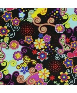 Snood Noir Danse des Fleurs