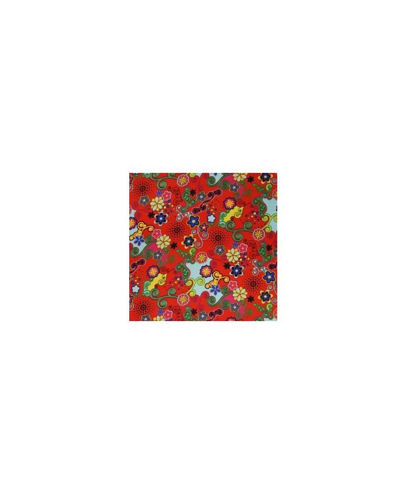 Snood Rouge Danse des Fleurs
