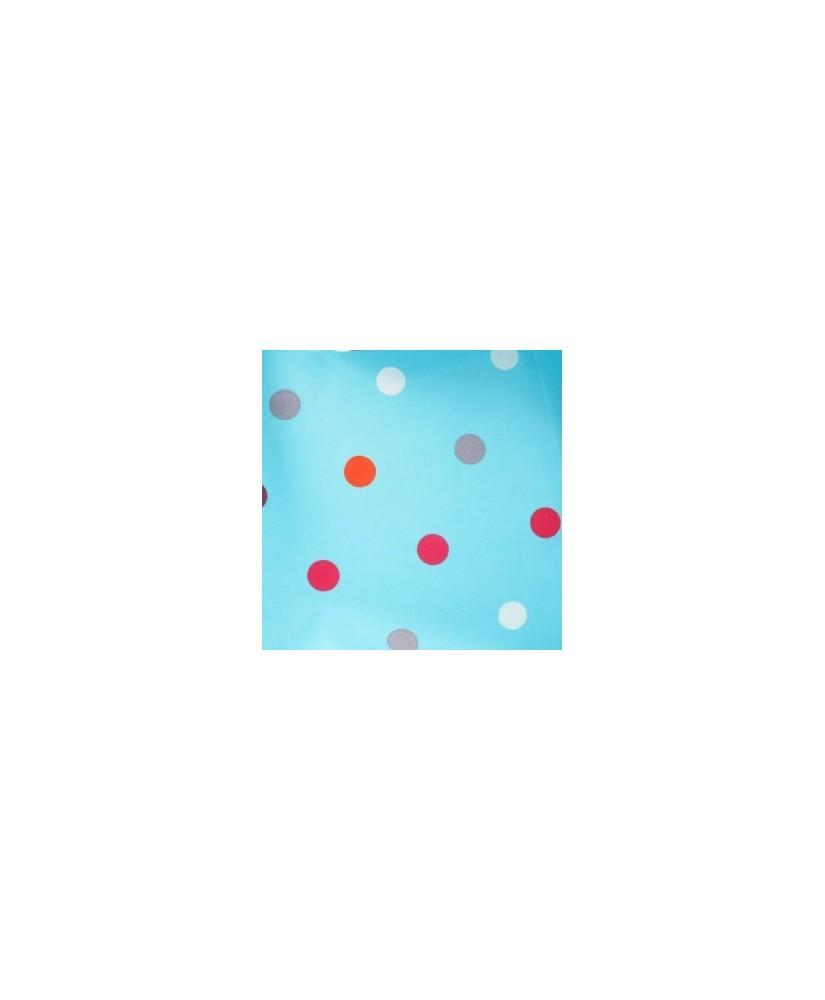 Snood Bleu Pois Colorés Imperméable