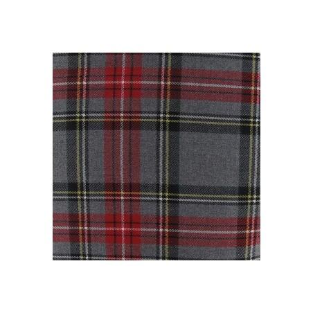 Snood Écossais Gris Rougeoyant