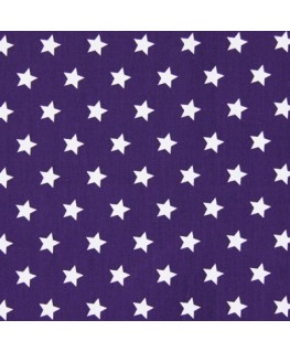 Snood violet pluie d'étoile