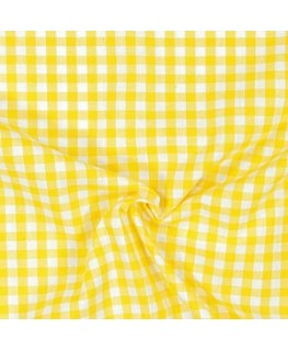 Snood Vichy Jaune