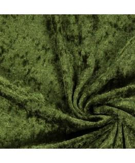 Snood Vert Olive Velours Brillant