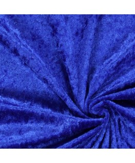 Snood Bleu Velours Brillant