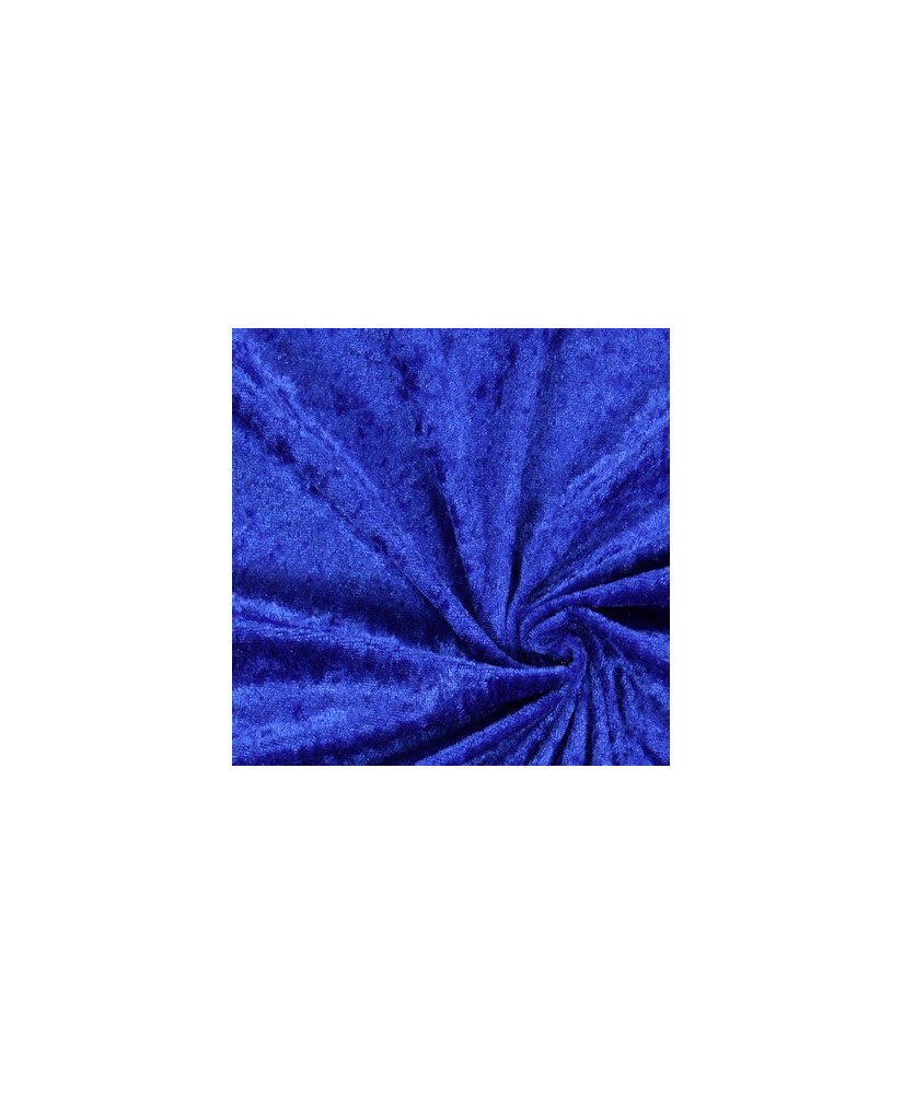 Snood Bleu Velours Brillant