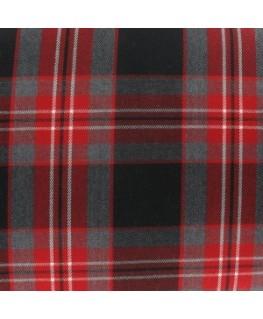 Snood écossais rouge et gris