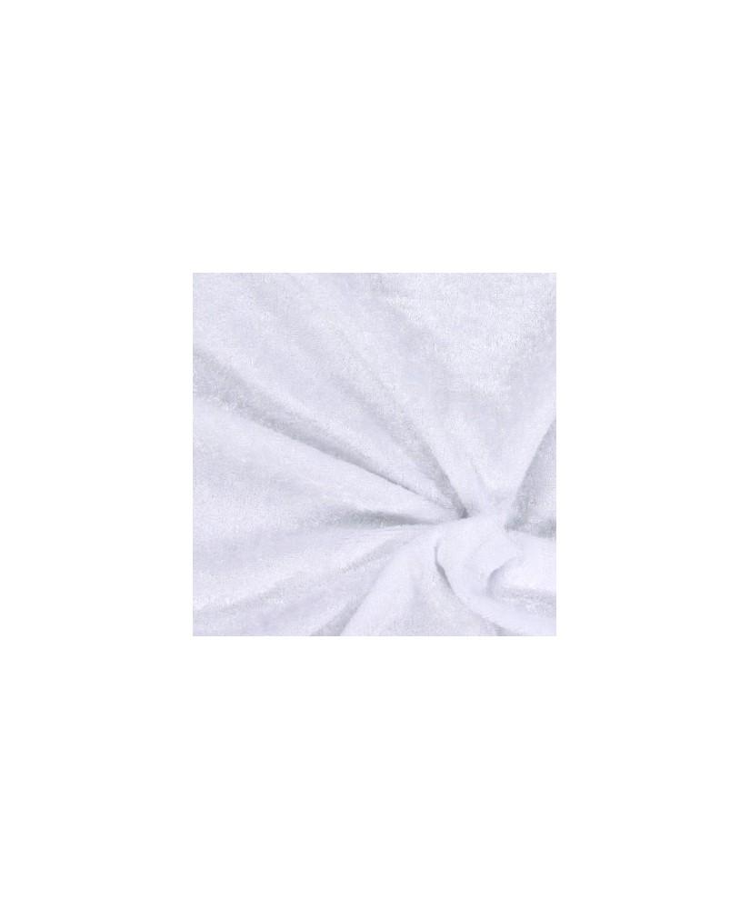 Snood Blanc Velours Brillant
