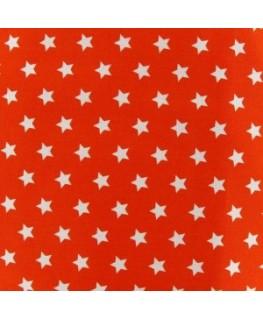 Snood Orange Pluie d'Étoiles