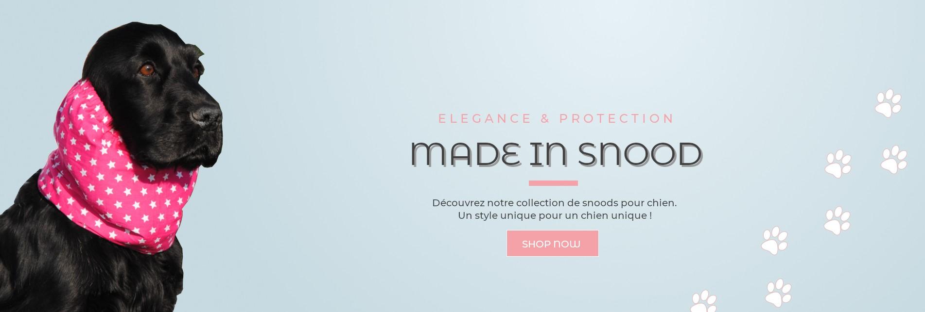 Made in Snood, snoods pour chien fabriqués en France